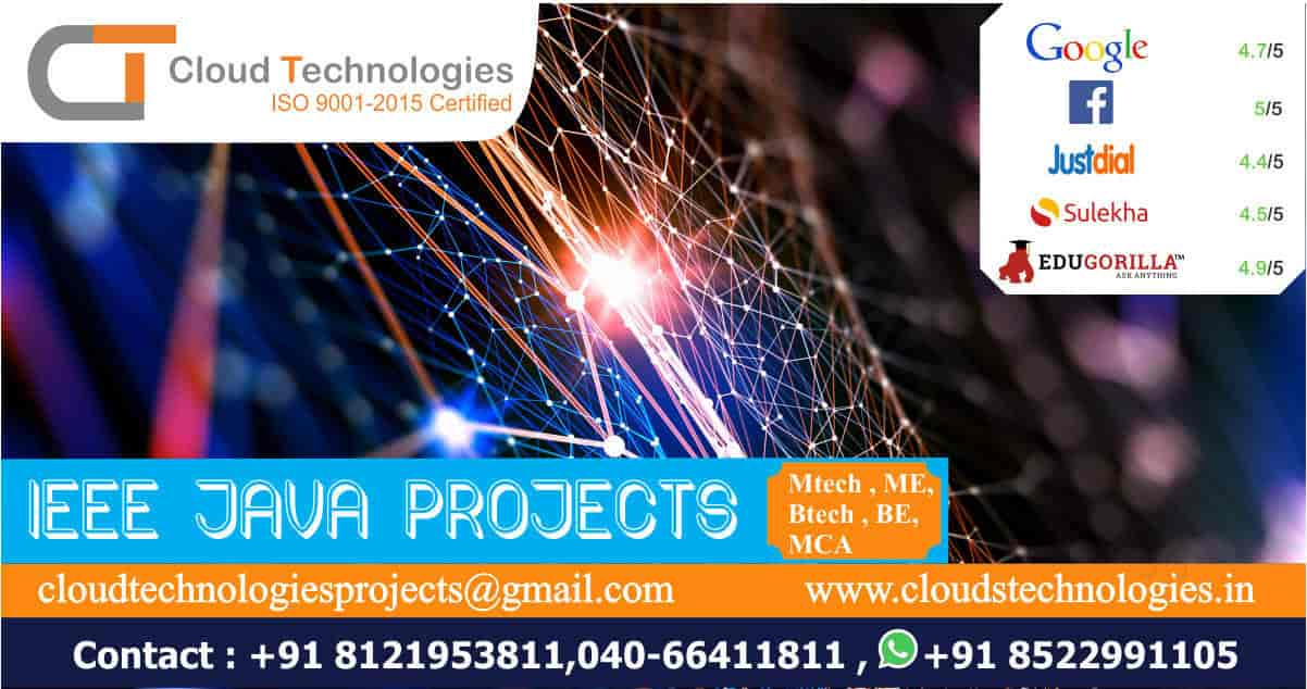 Cloud Technologies, Ameerpet - Live Projects Training In B Tech in