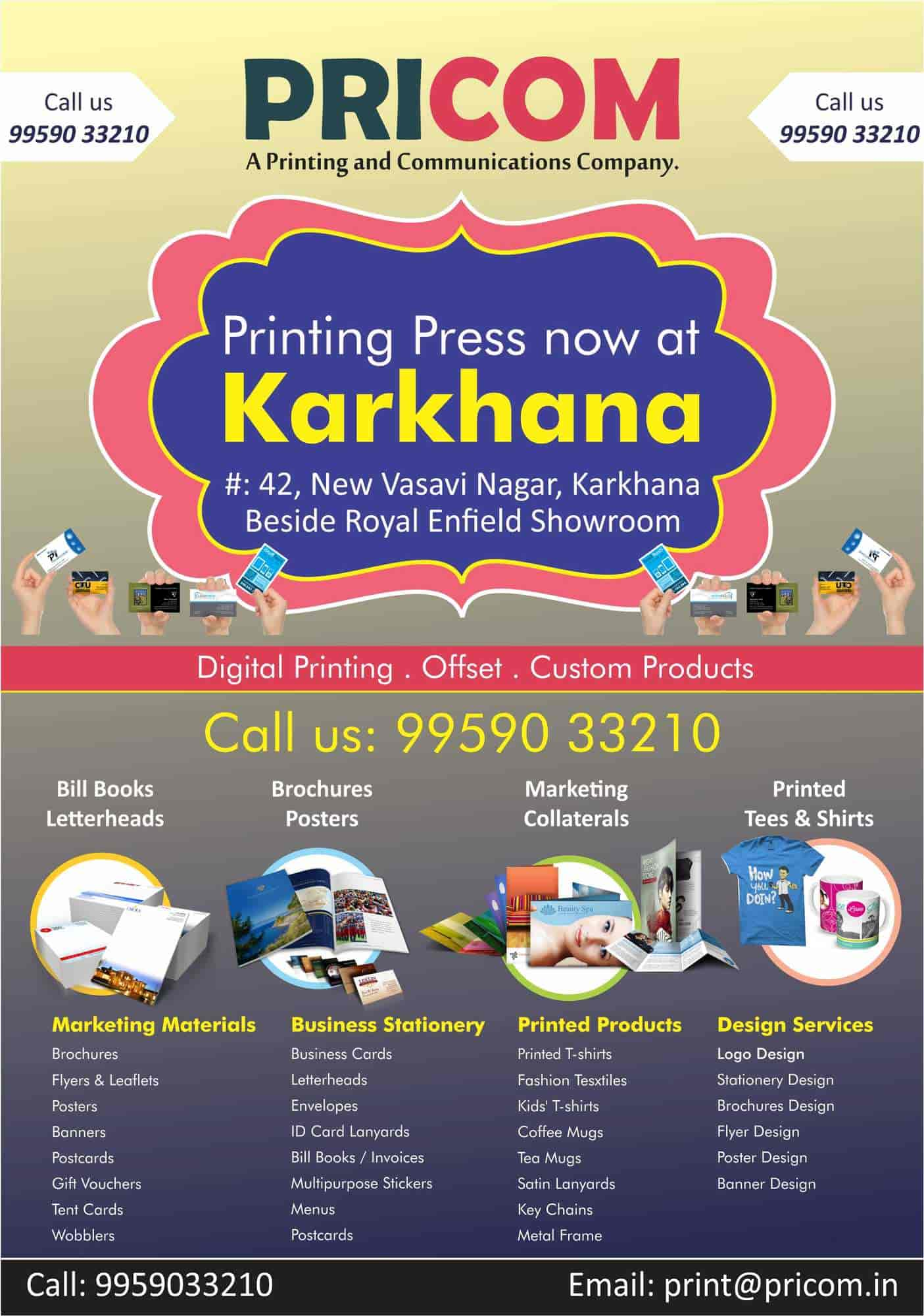 Pricom karkhana printers for visiting card in hyderabad justdial reheart Images