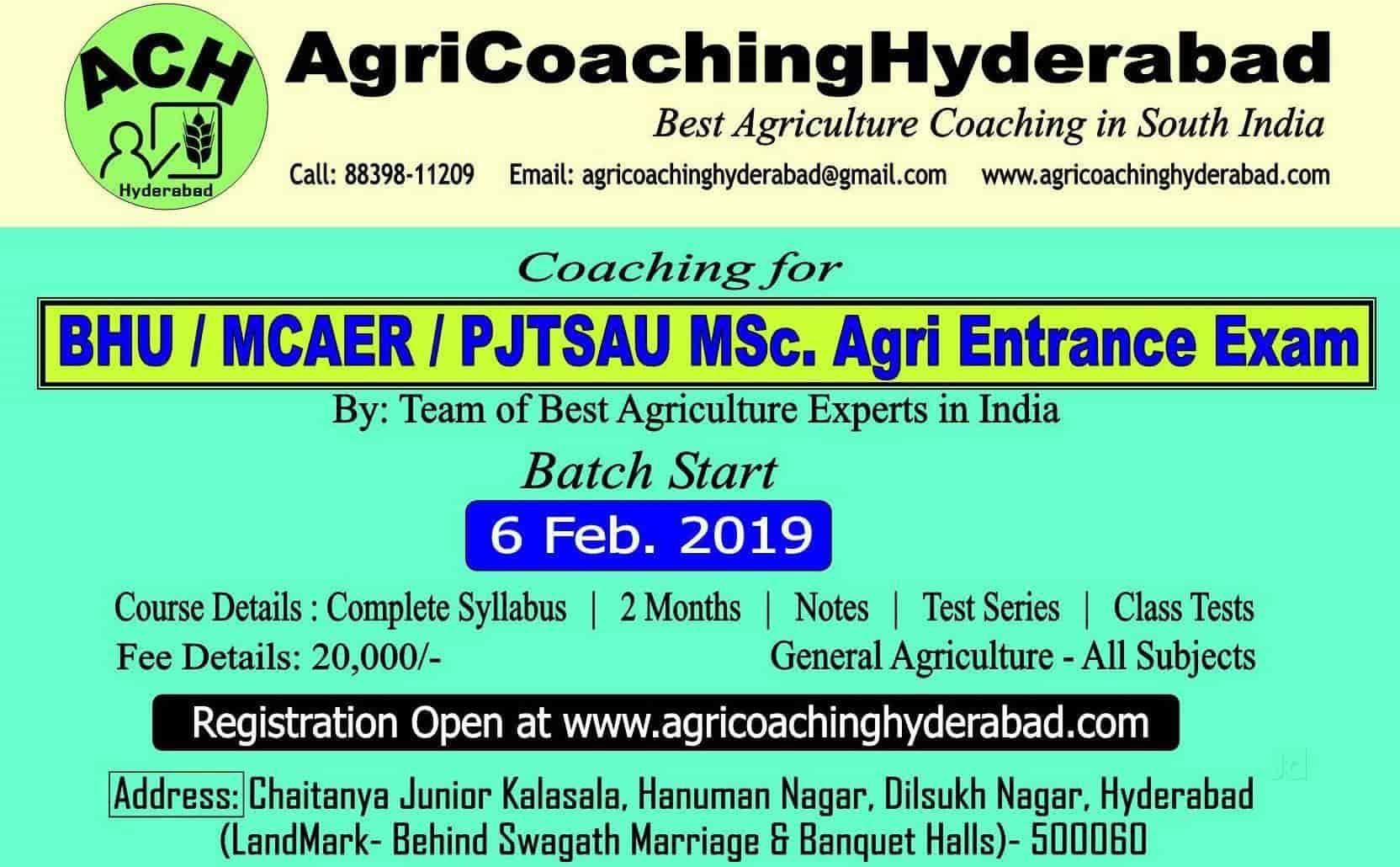 Agri Coaching Hyderabad, Dilsukhnagar - Agricultural