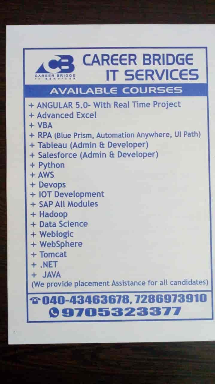 Career Bridge It Services, Kphb Colony - Computer Training