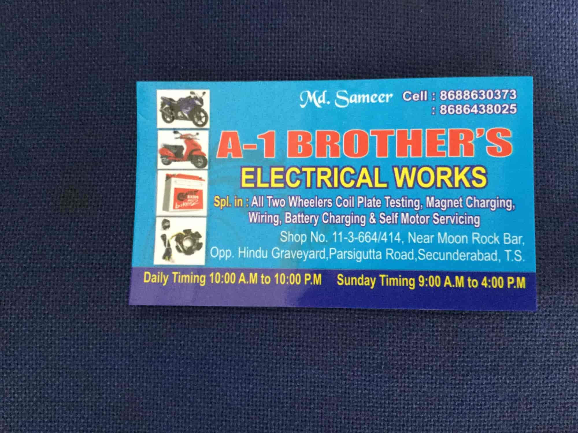 A 1 Brothers Bike Electrical Work Parsigutta Motorcycle Repair Wiring Works Vw Services Bajaj In Hyderabad Justdial