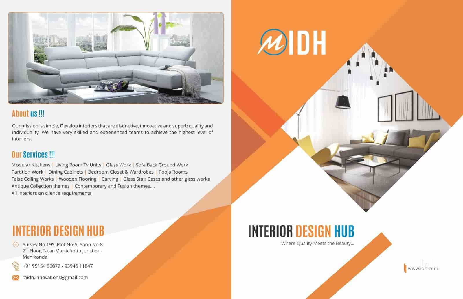 Brochure interior design hub photos manikonda hyderabad interior designers