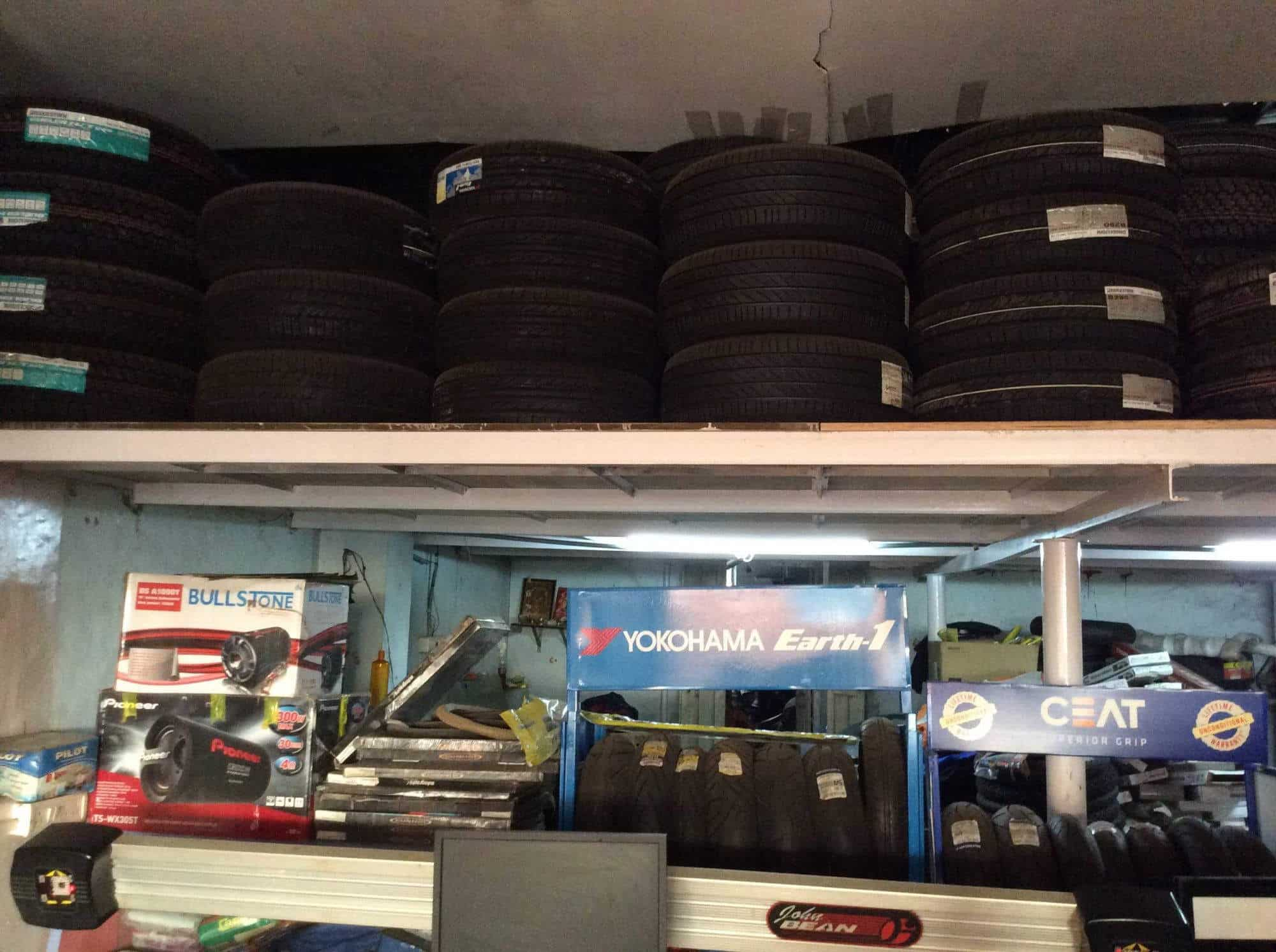 ... Inside View of Tyre Shop - PSR Wheels Photos, Kompally, Hyderabad - Tyre Dealers ...
