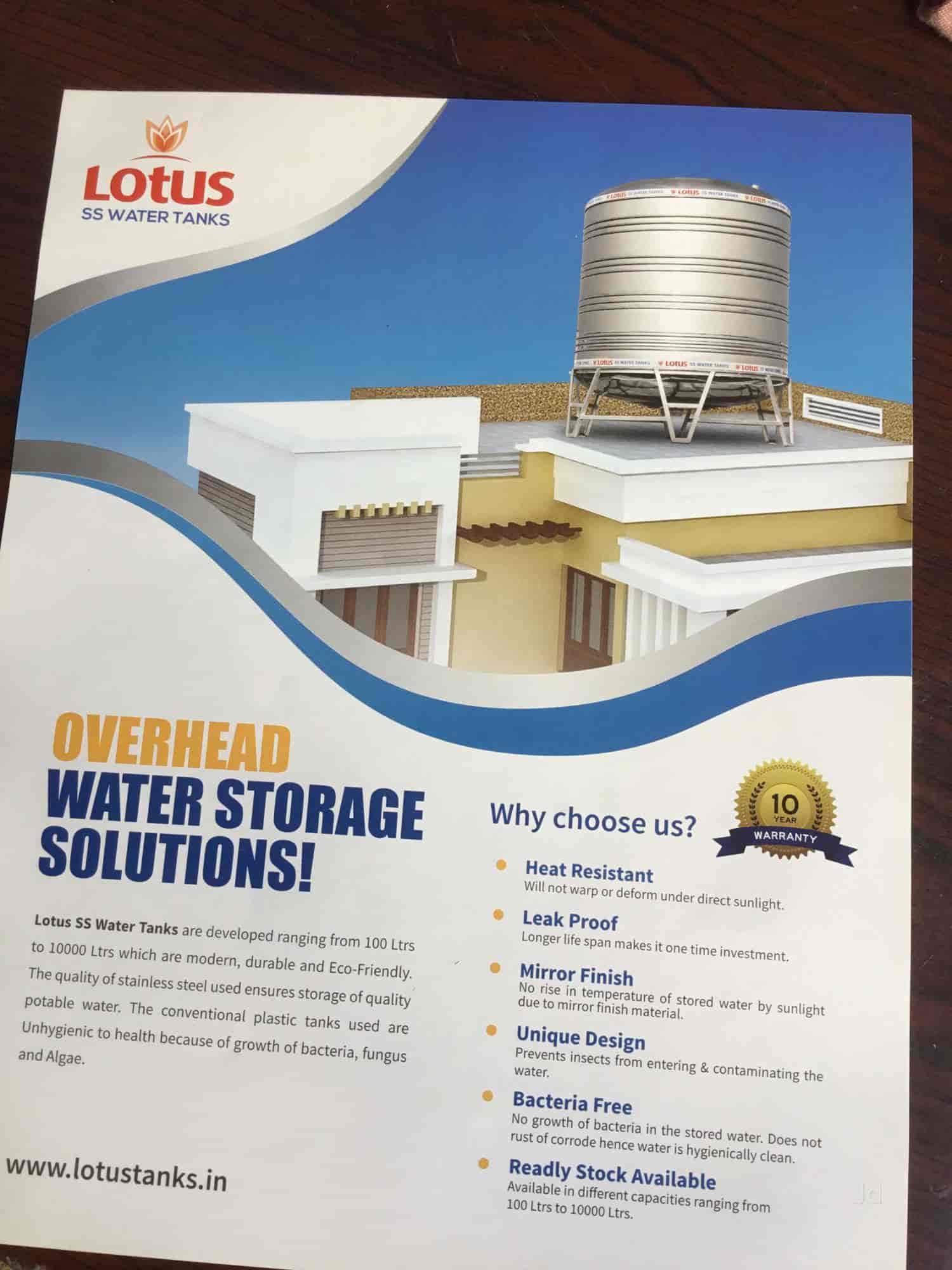 Lotus Industries, Secunderabad - Stainless Steel Water Tank