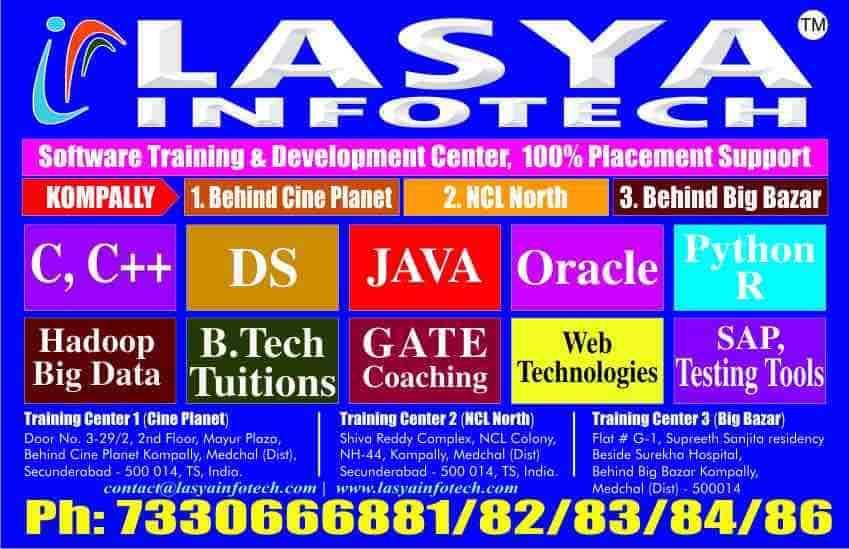 Lasya Infotech, Kompally - Computer Training Institutes in Hyderabad