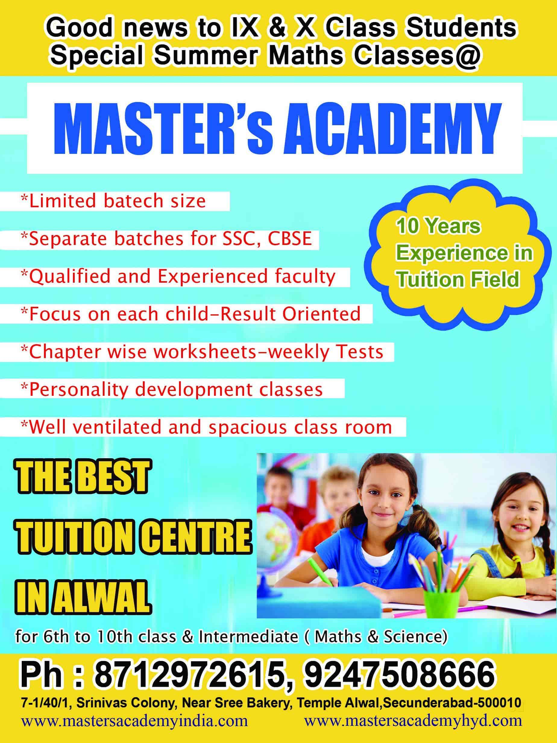 Masters Academy, Alwal - Abacus Classes in Hyderabad - Justdial