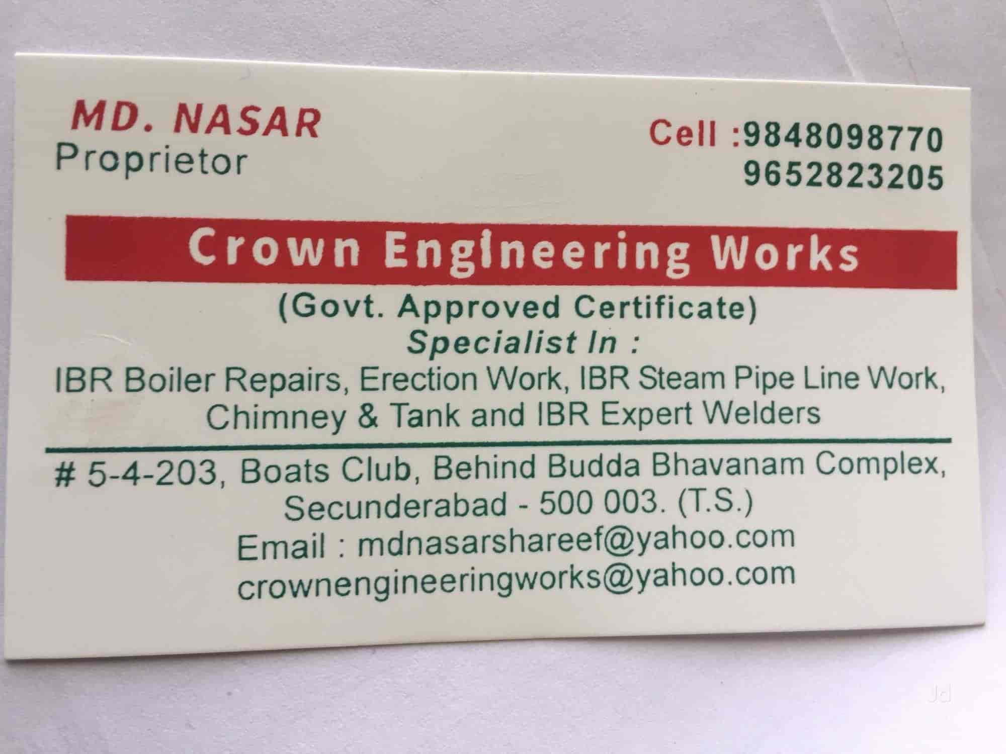 Crown Engineering Works, Secunderabad - Boiler Repair & Services in ...