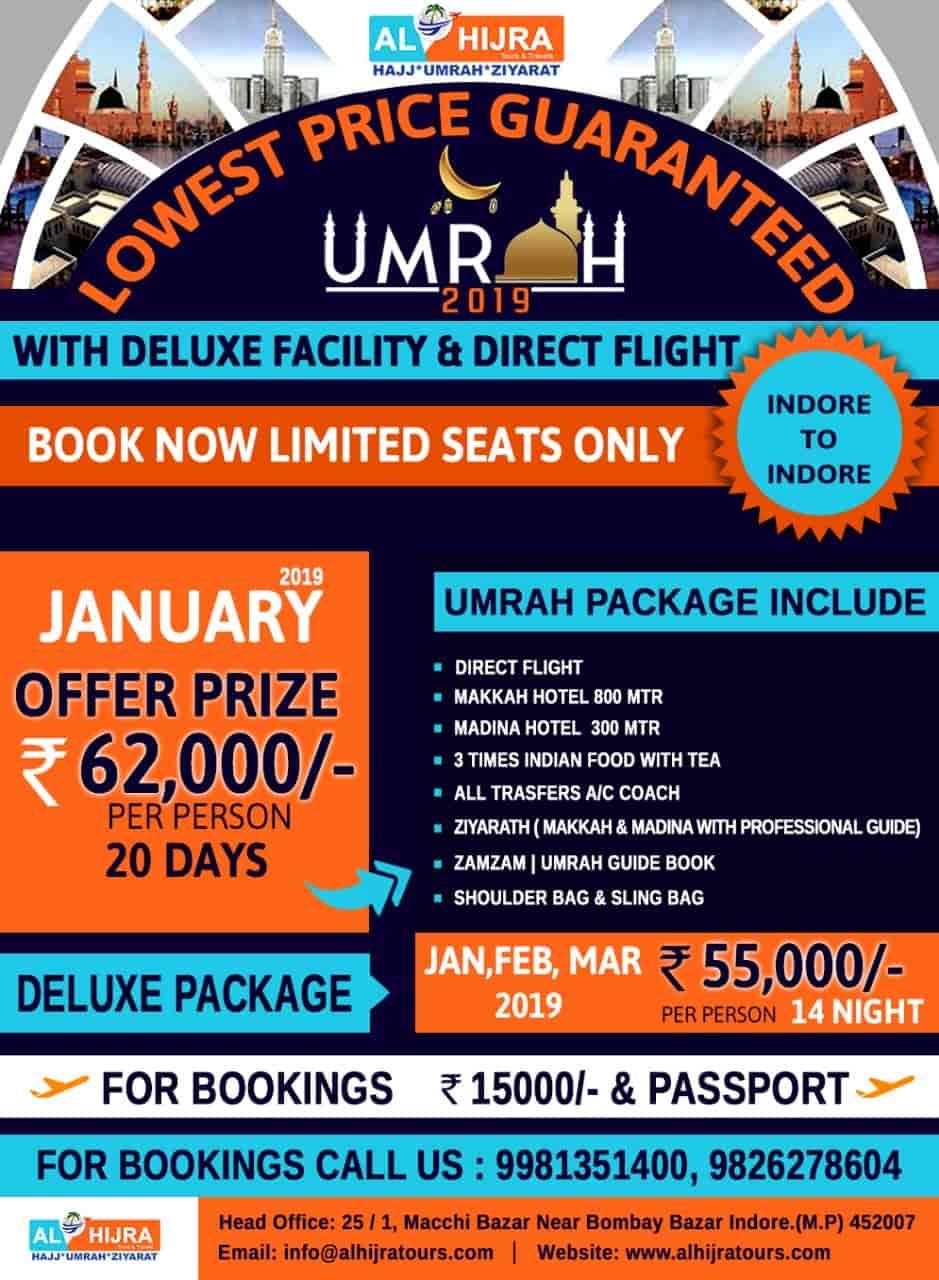 AL-HIJRA Umrah Tour & Travels, Jawahar Road - Tour Operators