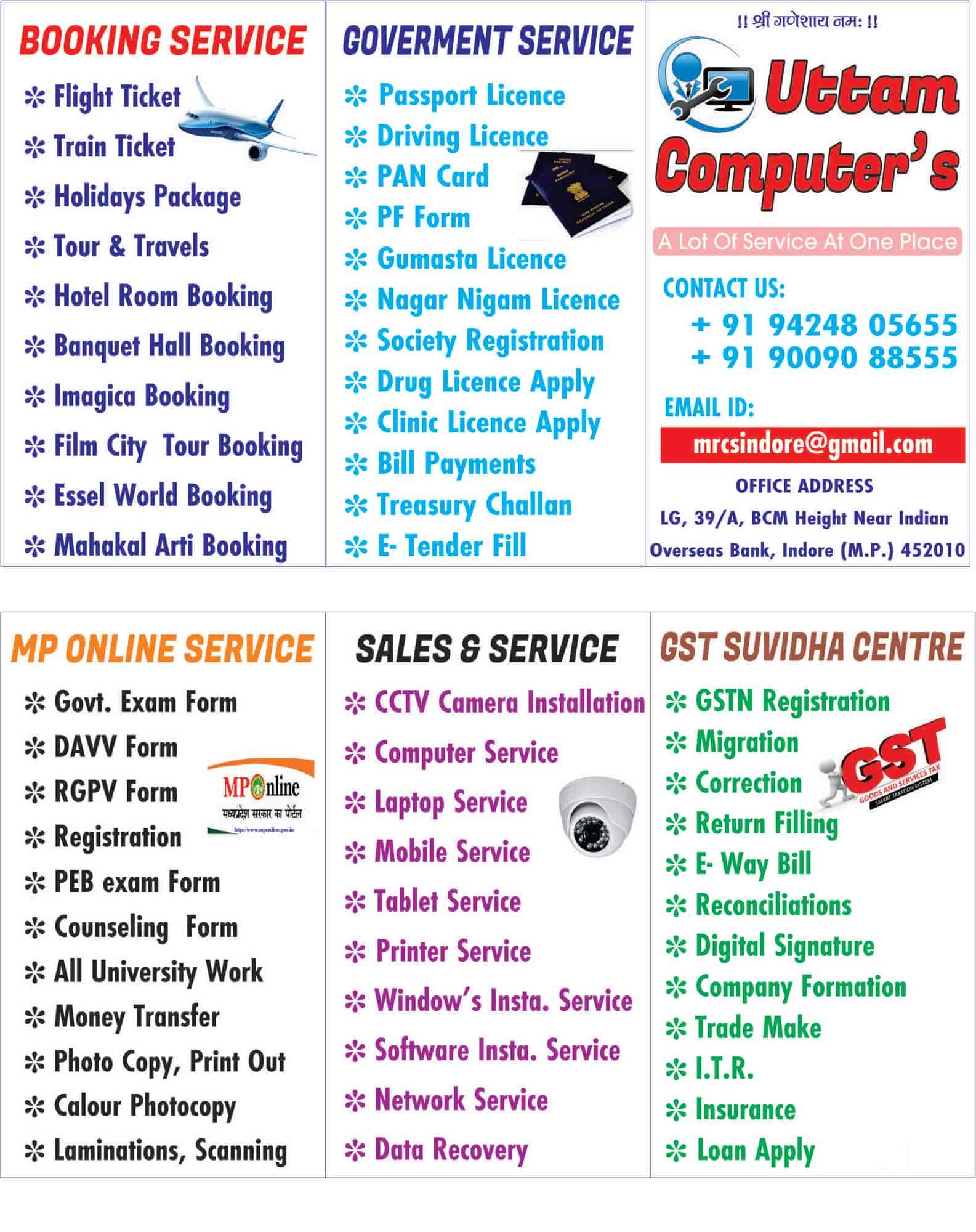 Uttam Computers, Satya Sai - Internet Service Providers in Indore