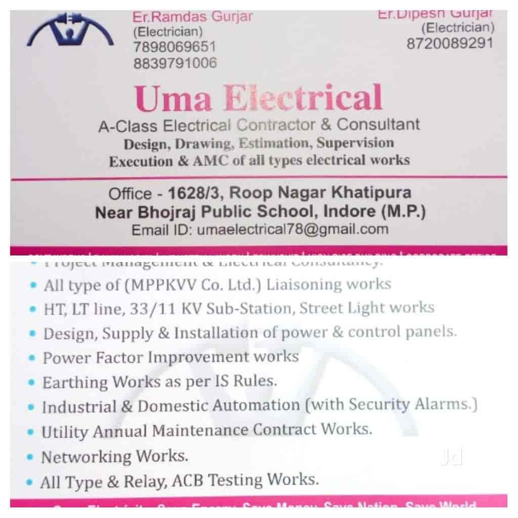 Uma Electrical Photos Sawner Road Indore Pictures Images