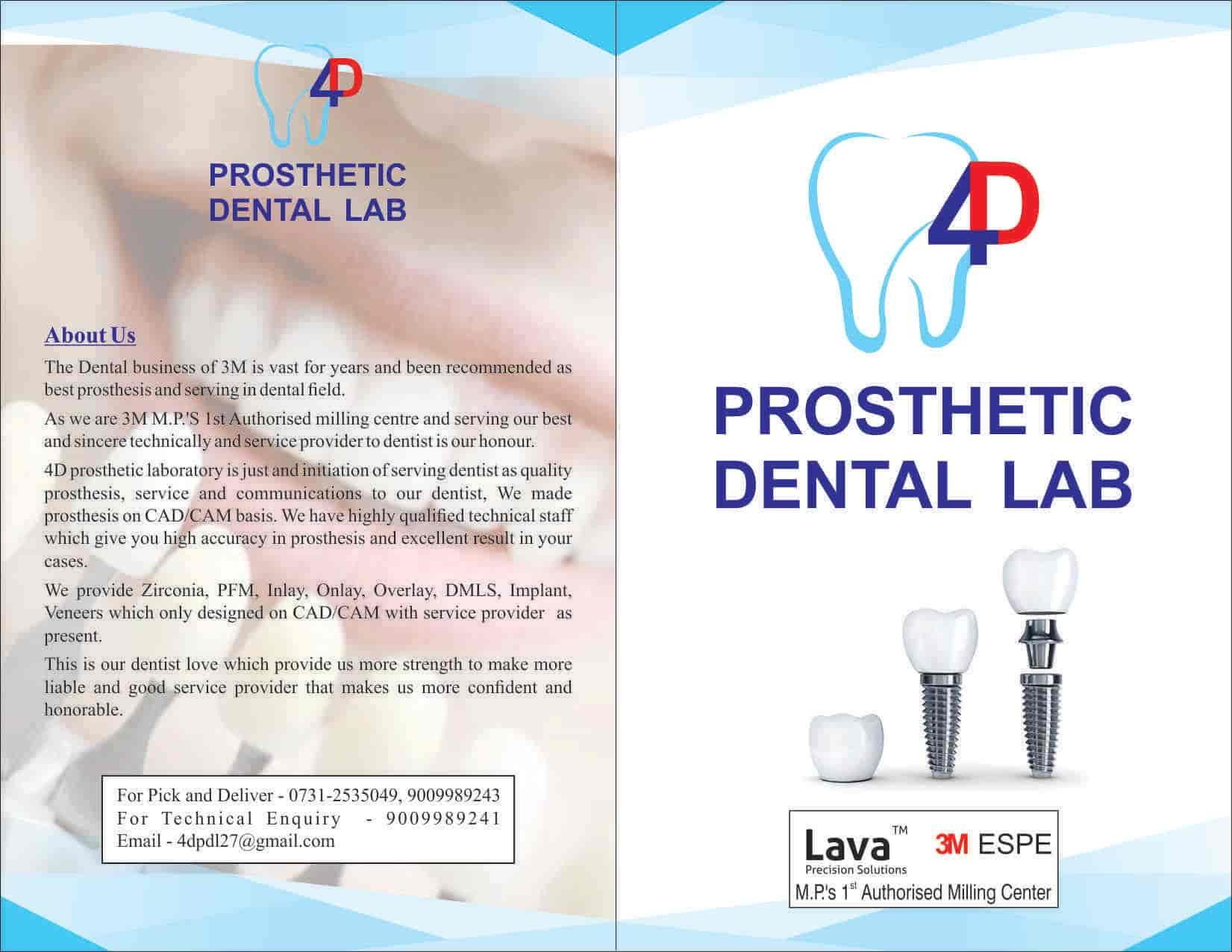 4d Prosthetic Dental Lab Indore Mp Photos, Rajwada, Indore