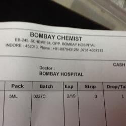 Bombay Chemist, Vijay Nagar - Chemists in Indore - Justdial