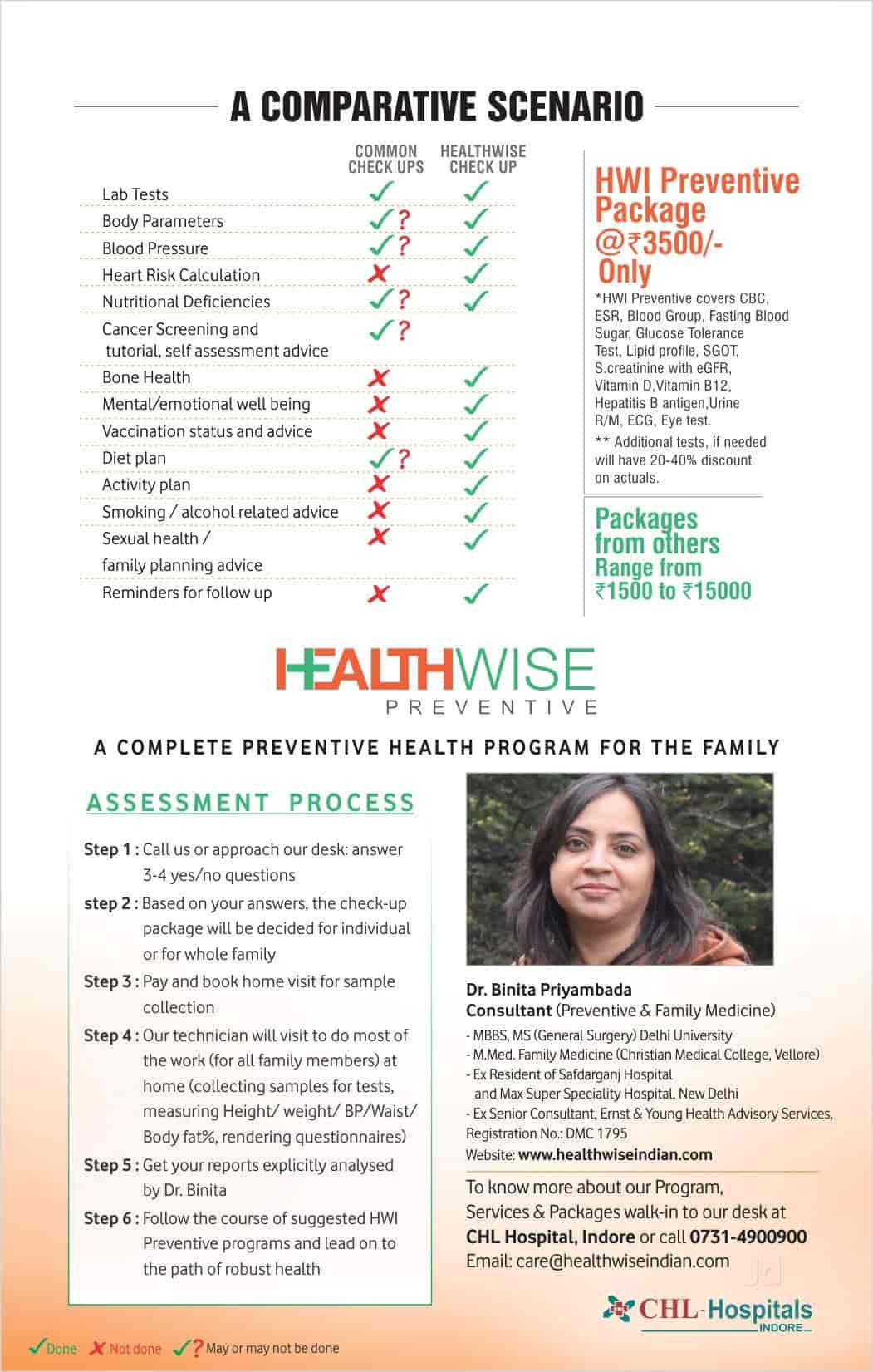 9cbc8b7c1311 ... Brochure - Healthwise Clinic Photos, New Palasia, Indore - General  Physician Doctors ...