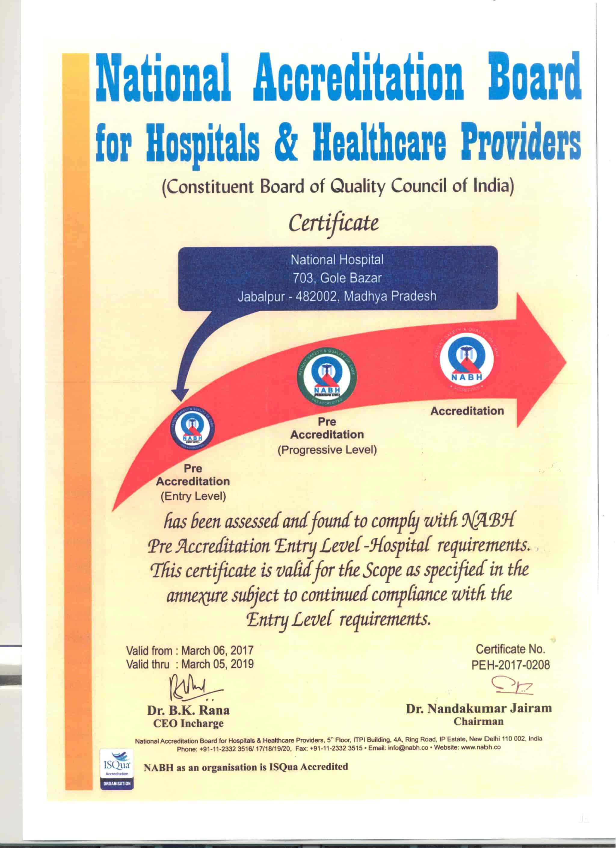 National Hospital, Jabalpur City - Multispeciality Hospitals in