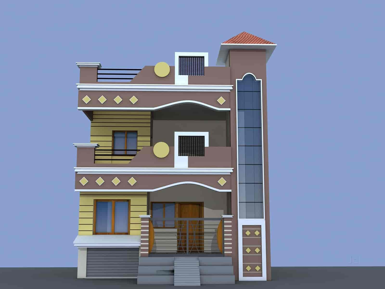 home elevation designs front perfect 3d interior elevation design jabalpur city designing animation services in justdial