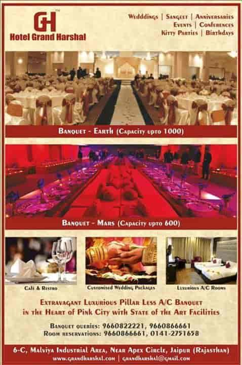 hotel grand harshal malviya nagar banquet halls in jaipur justdial rh justdial com