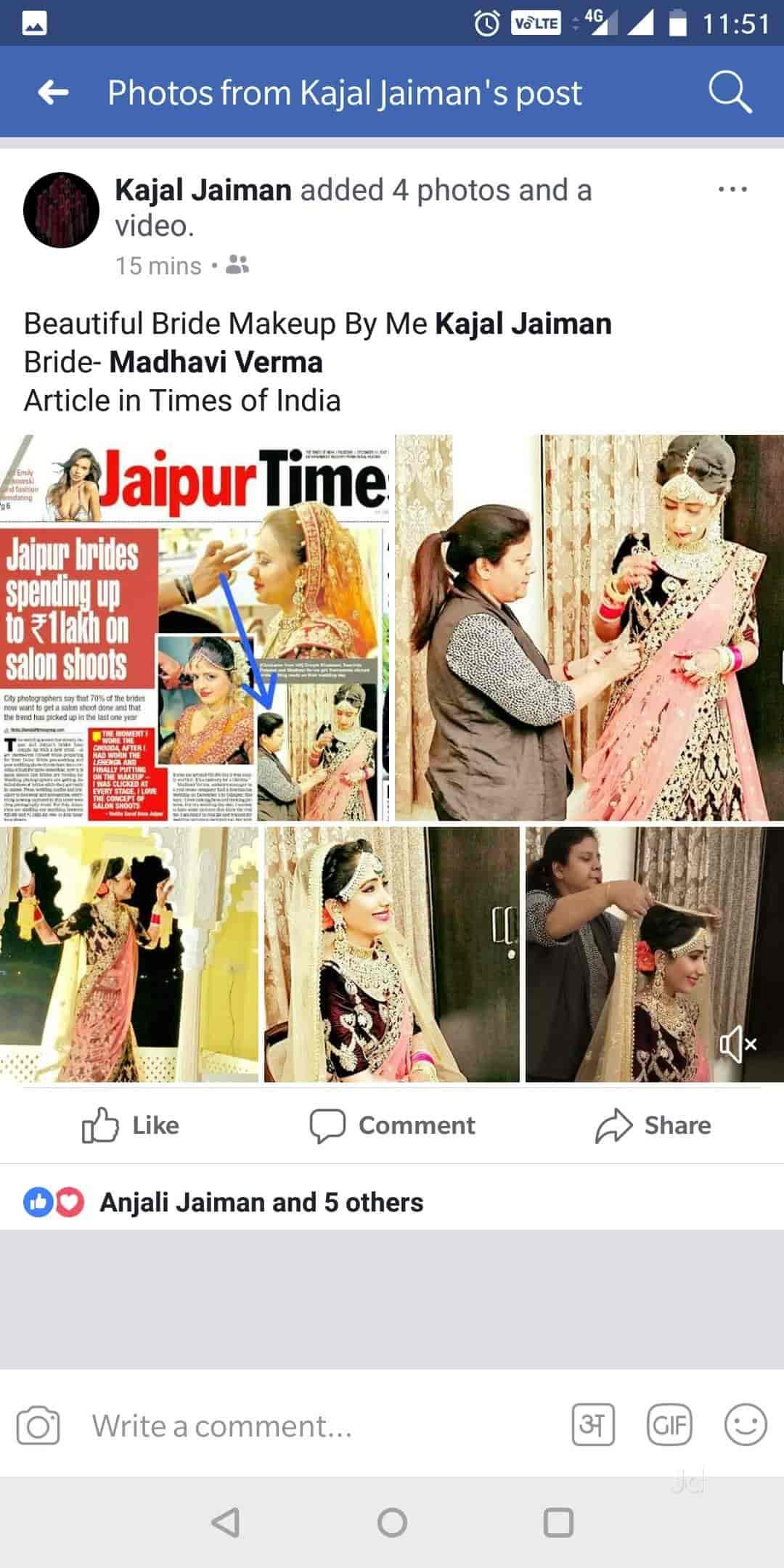 Kajal Jaiman Mac Studio Hair & Beauty, Bani Park - Bridal Makeup Artists in Jaipur - Justdial