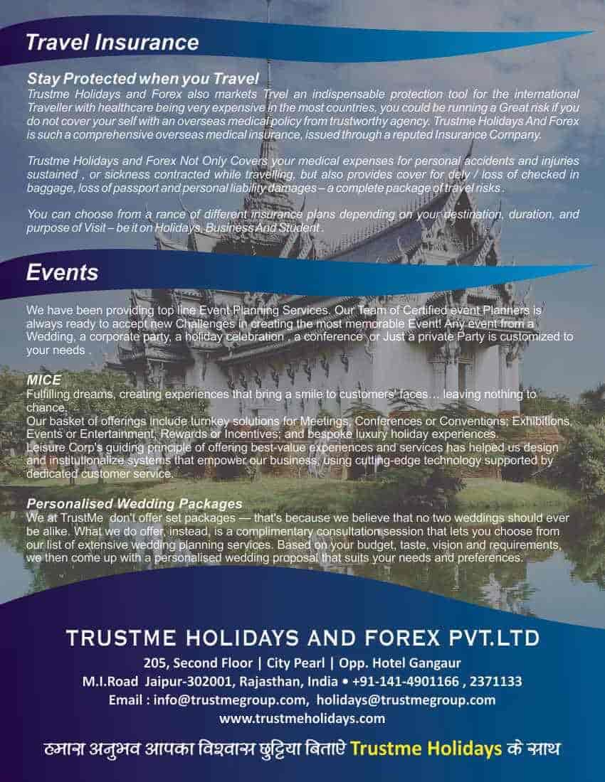 Trustme Holidays And Forex Pvt Ltd, M I Road - Foreign