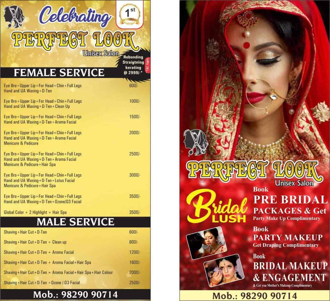 ... Price List - Bridal Makeup By Perfect Look Salon Photos, Gopalpura Bypass, ...