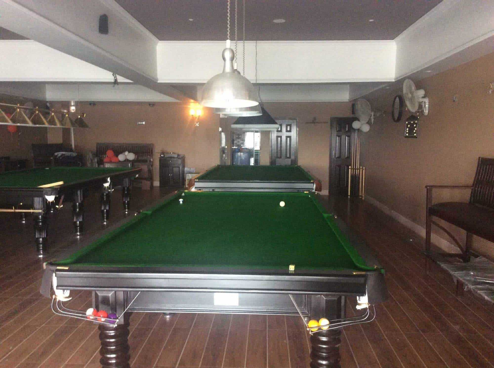 Inside View Of Gaming Billiard Pool Parlor  The Billiards