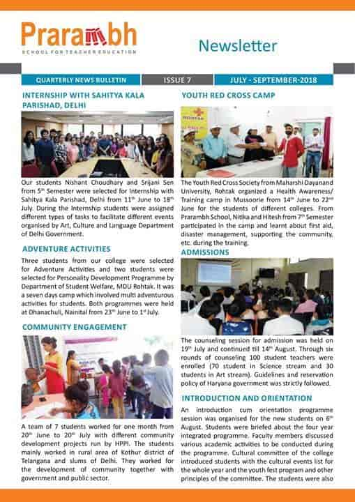 Prarambh School For Teacher Education - B Ed Colleges in