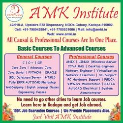 AMK Institute, NGO Colony - Computer Training Institutes in