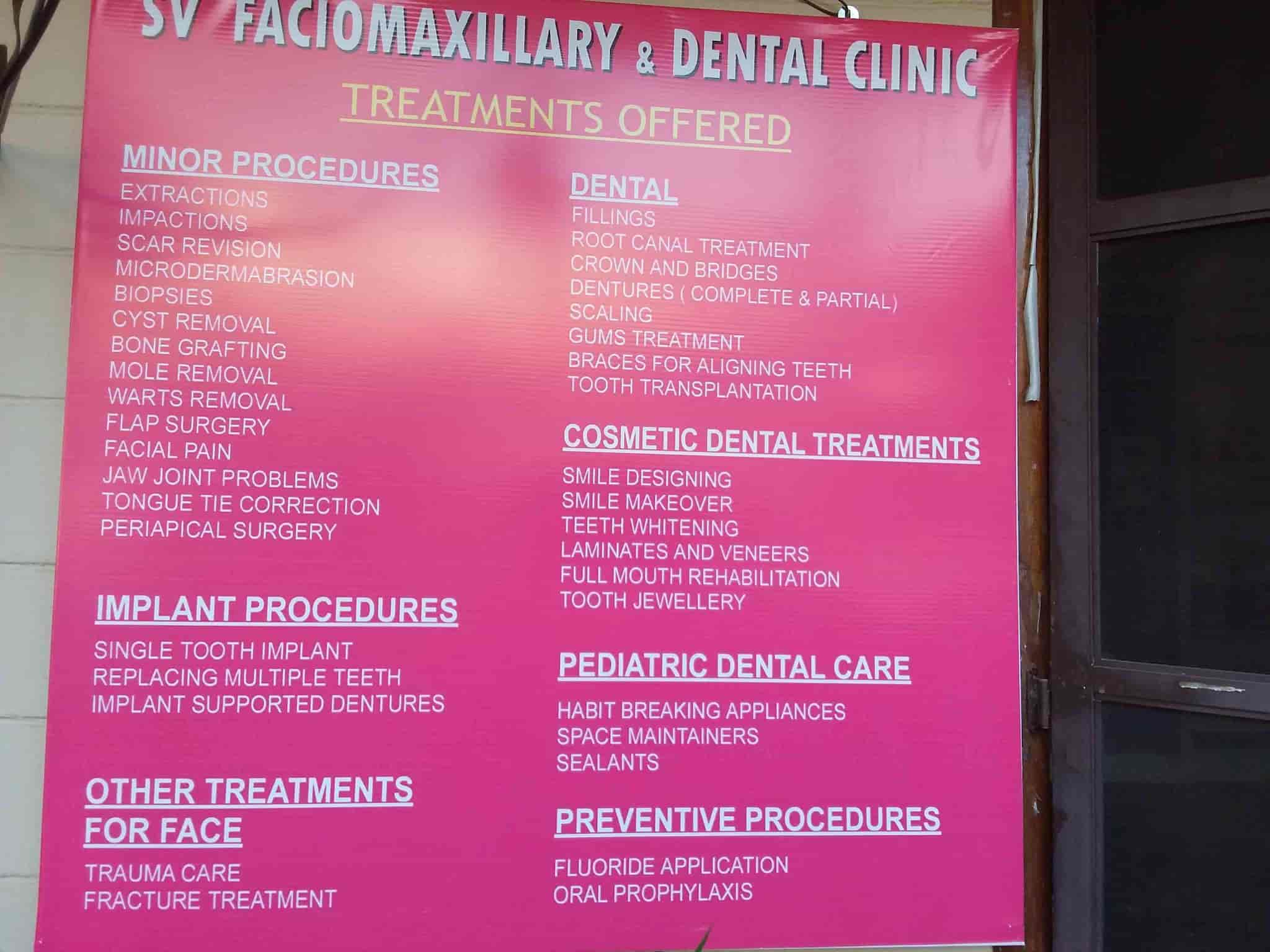 SV Faciomaxillary And Dental Clinic - Dentists - Book Appointment