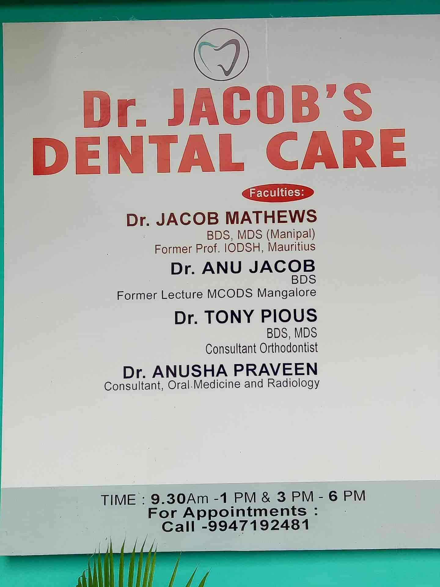 Dr  Jacob's Dental Care - Dentists - Book Appointment Online