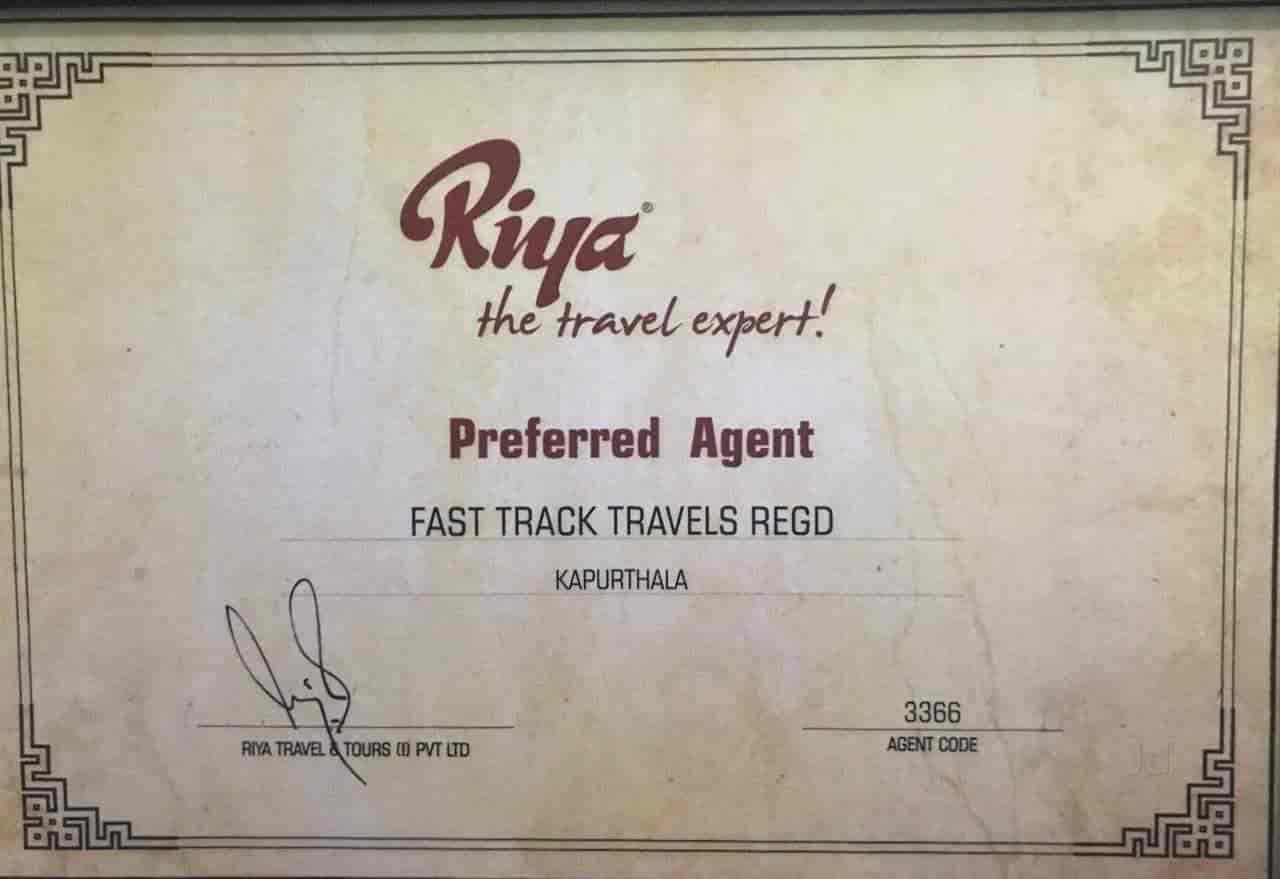 Fast Track Travels, Kapurthala Ho - Travel Agents in
