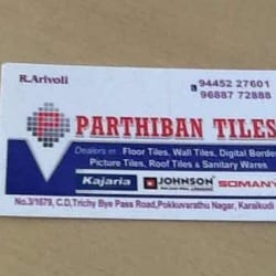 Parthiban Tiles Karaikudi H O Tile Dealers In Karaikudi Justdial