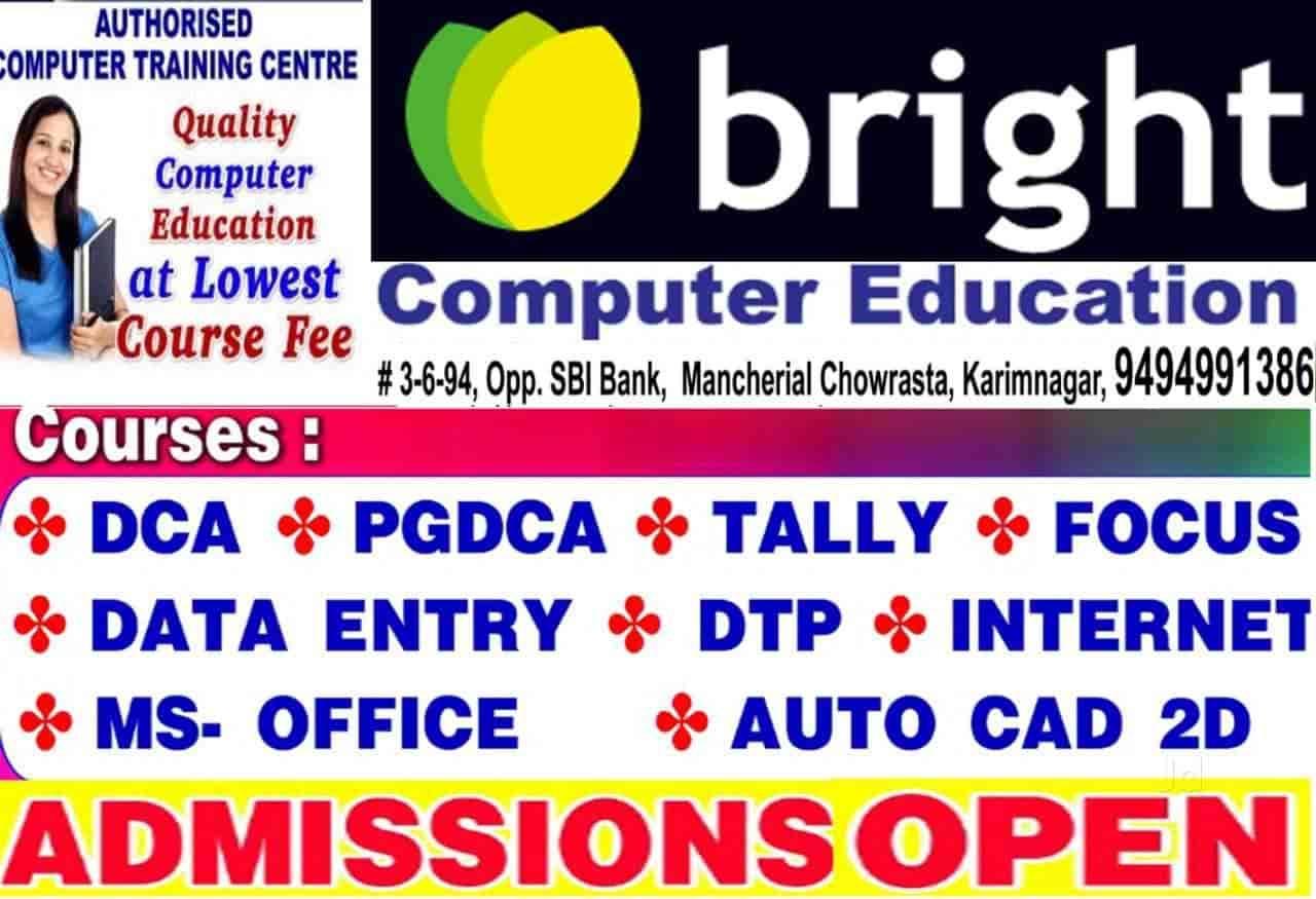 Bright Computer Education Opp Sbi Bank Mancherial Chowrasta K N R Near Mancherial Road Opp Sbi Bank Computer Training Institutes In Karimnagar Justdial