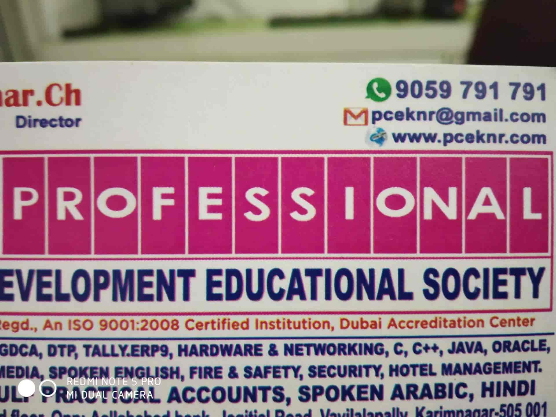 Professional Computer Education, Jagithyala Road - Computer