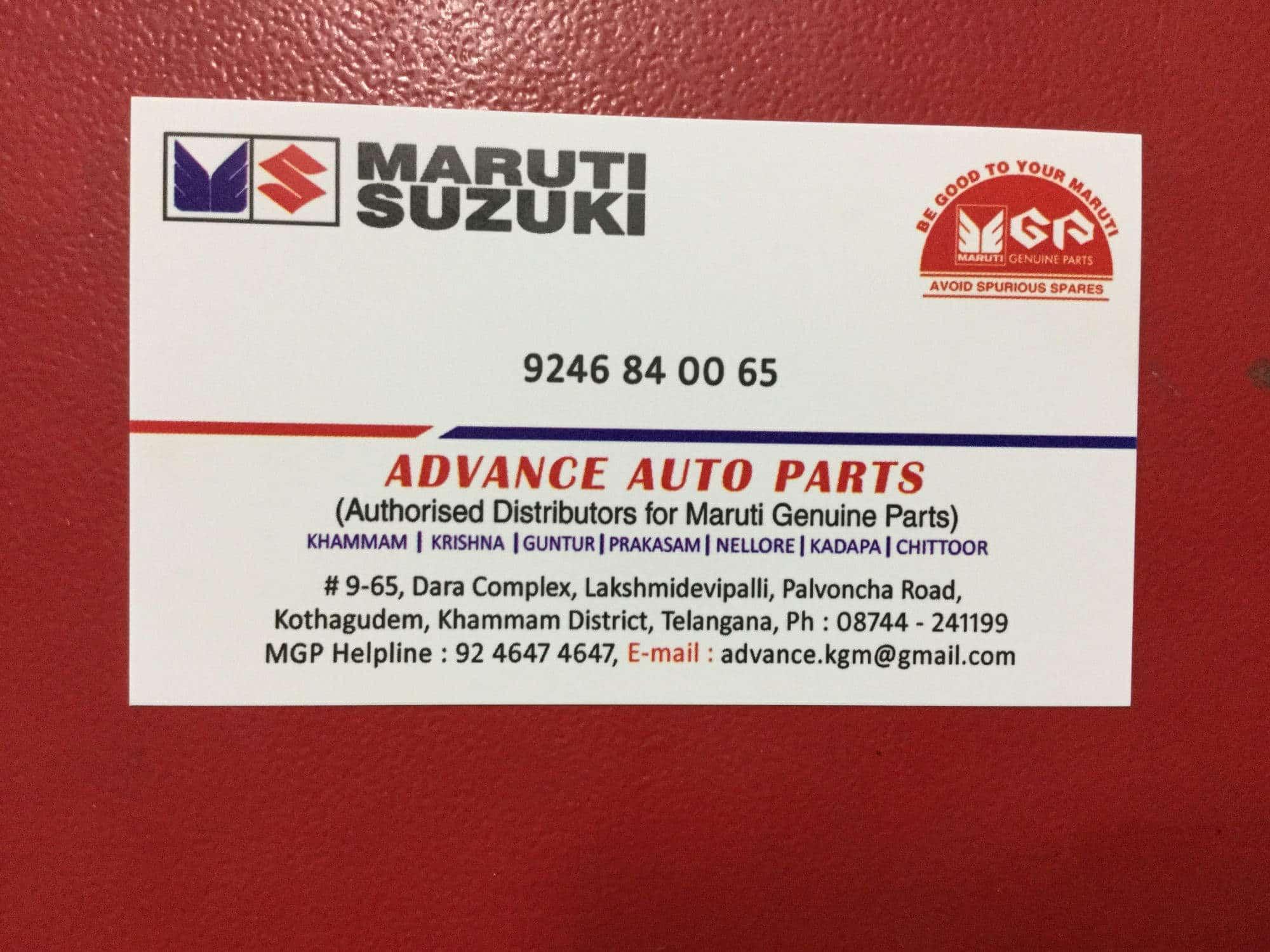 Advance Auto Parts Kothagudem Automobile Part Dealers In