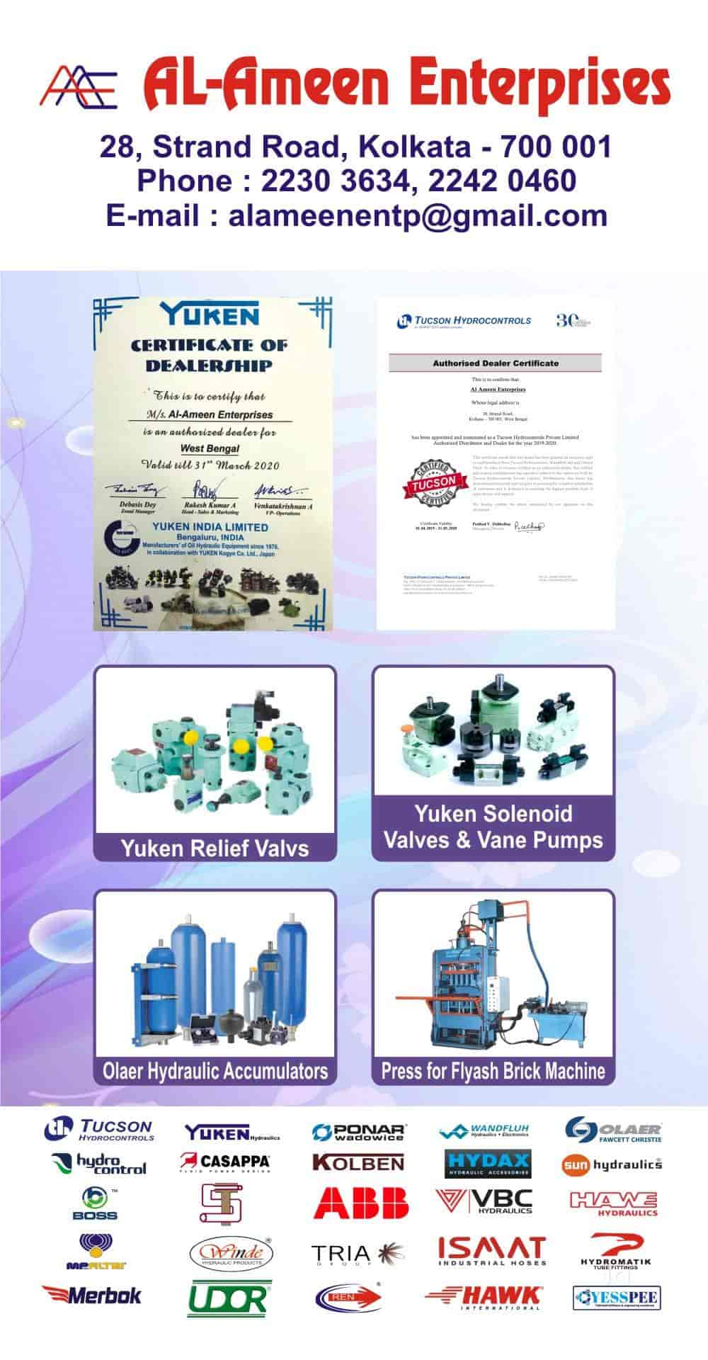 Al Ameen Enterprises, Dalhousie - Hydraulic Equipment Dealers in