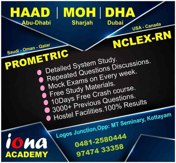 Iona Academy Kottayam HO Tutorials For Nclex In Kottayam