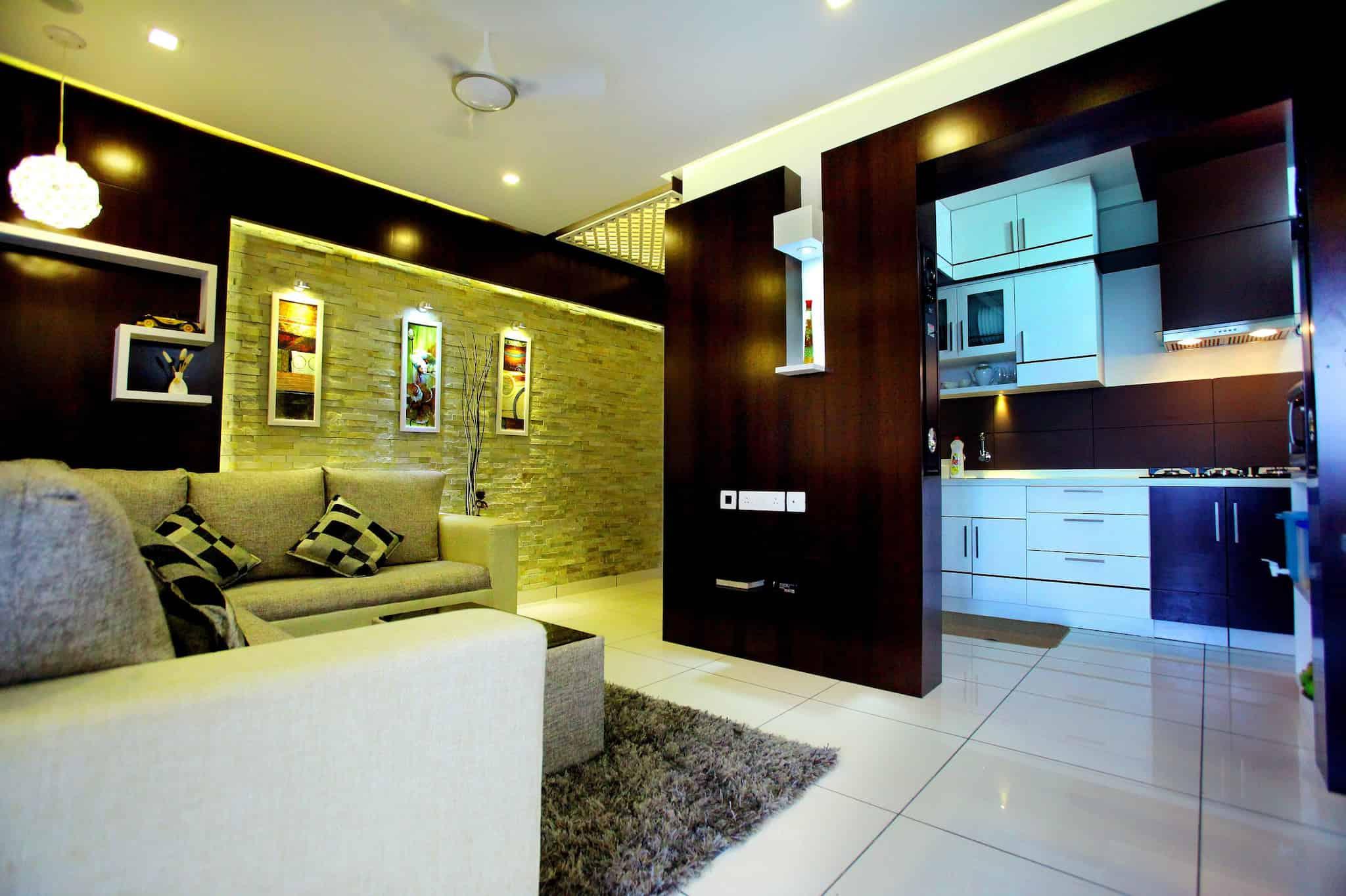Attractive ... Living Hall Interior Design   Interior U0026 Exterior Design Photos, Mavoor  Road, ...