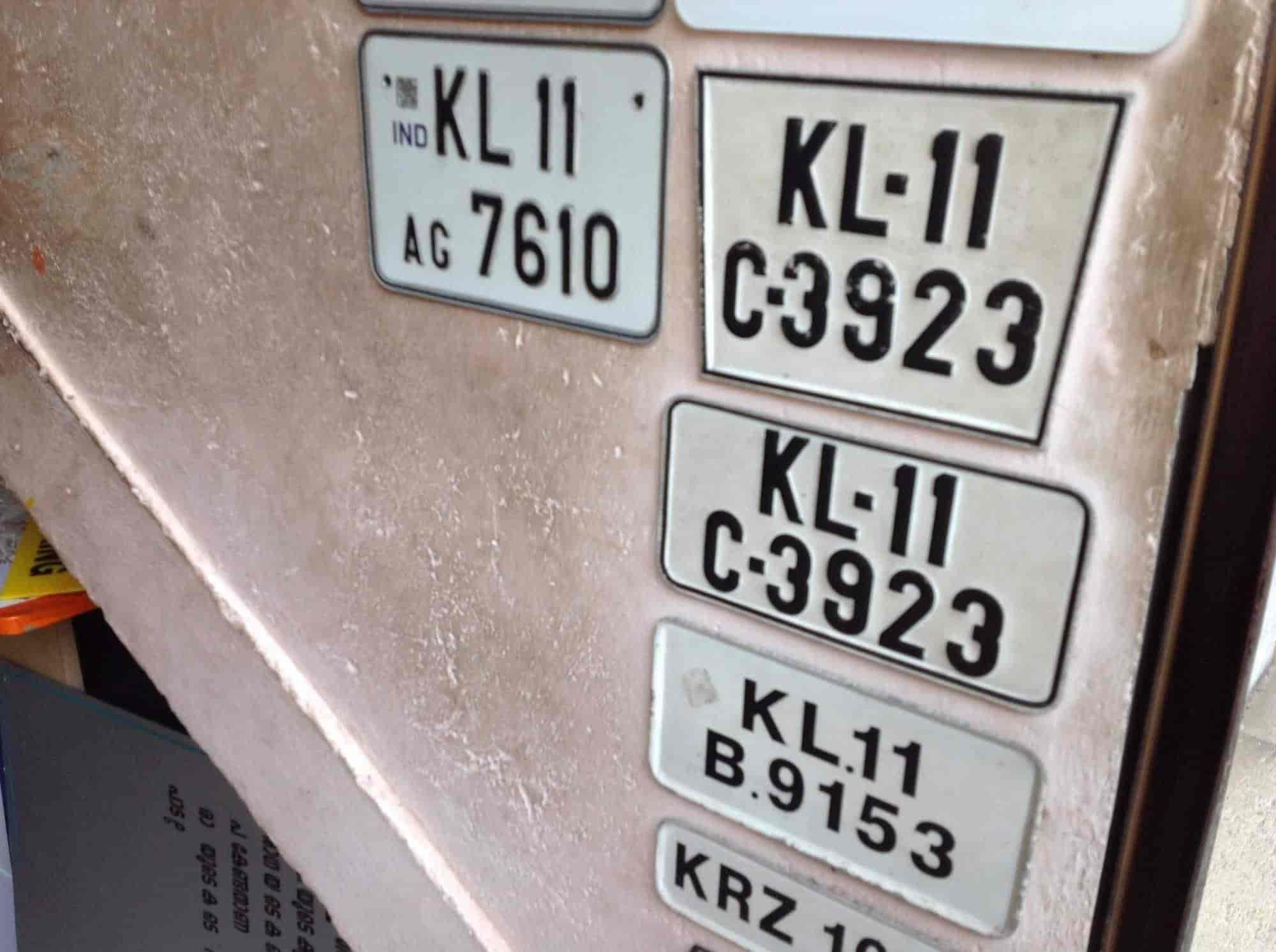 Number plate nice sticker cutting photos ymca road kozhikode sticker cutting services