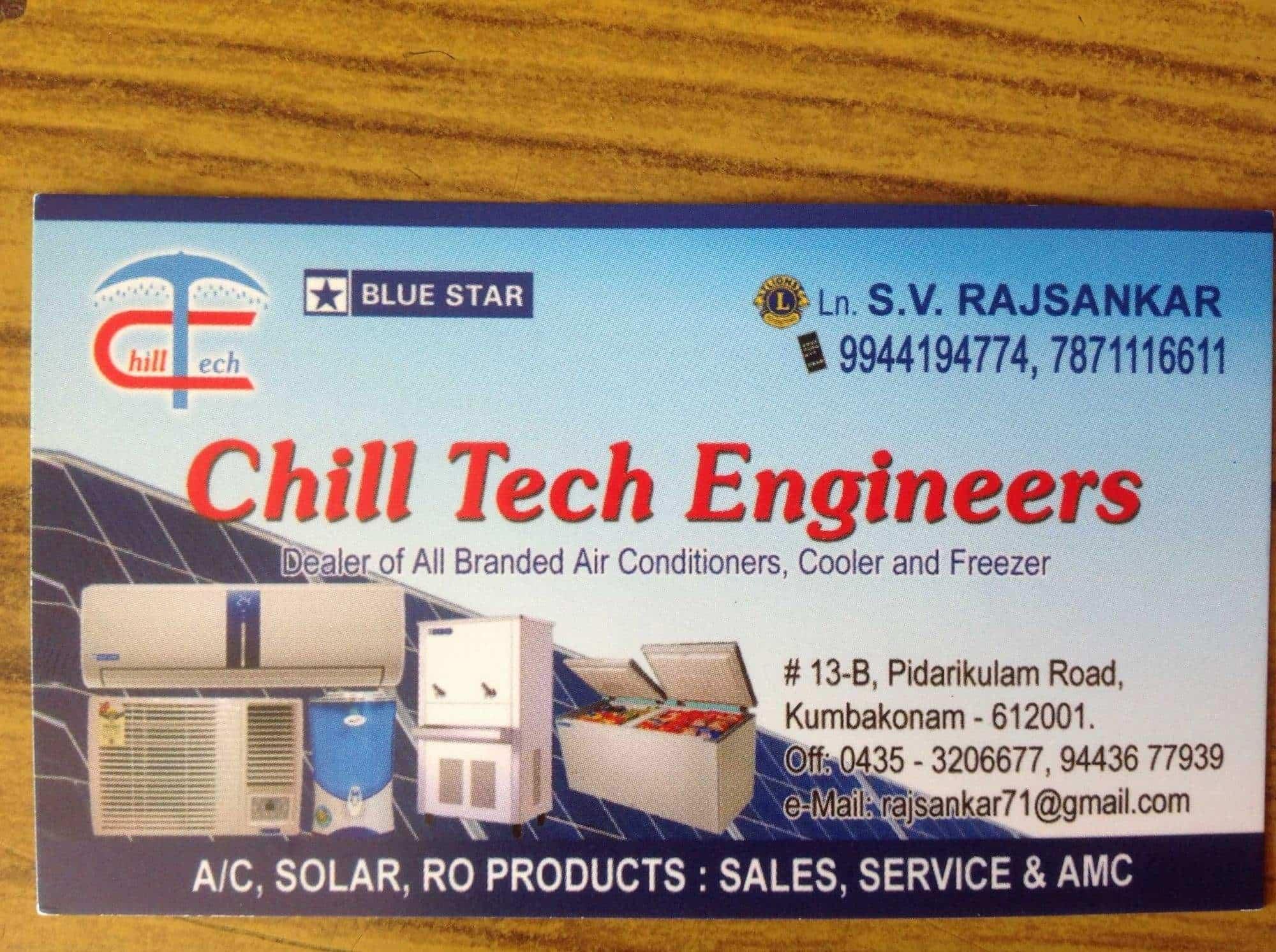 Chill Tech Engineers, Opposite Fish Market - AC Repair