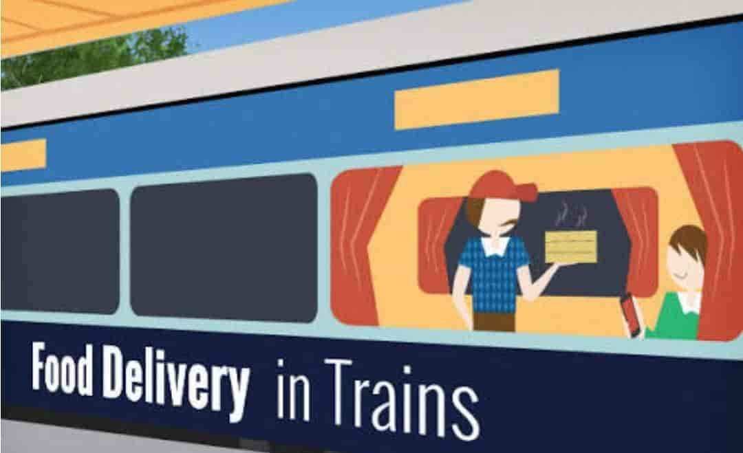 Image result for food delivery in train