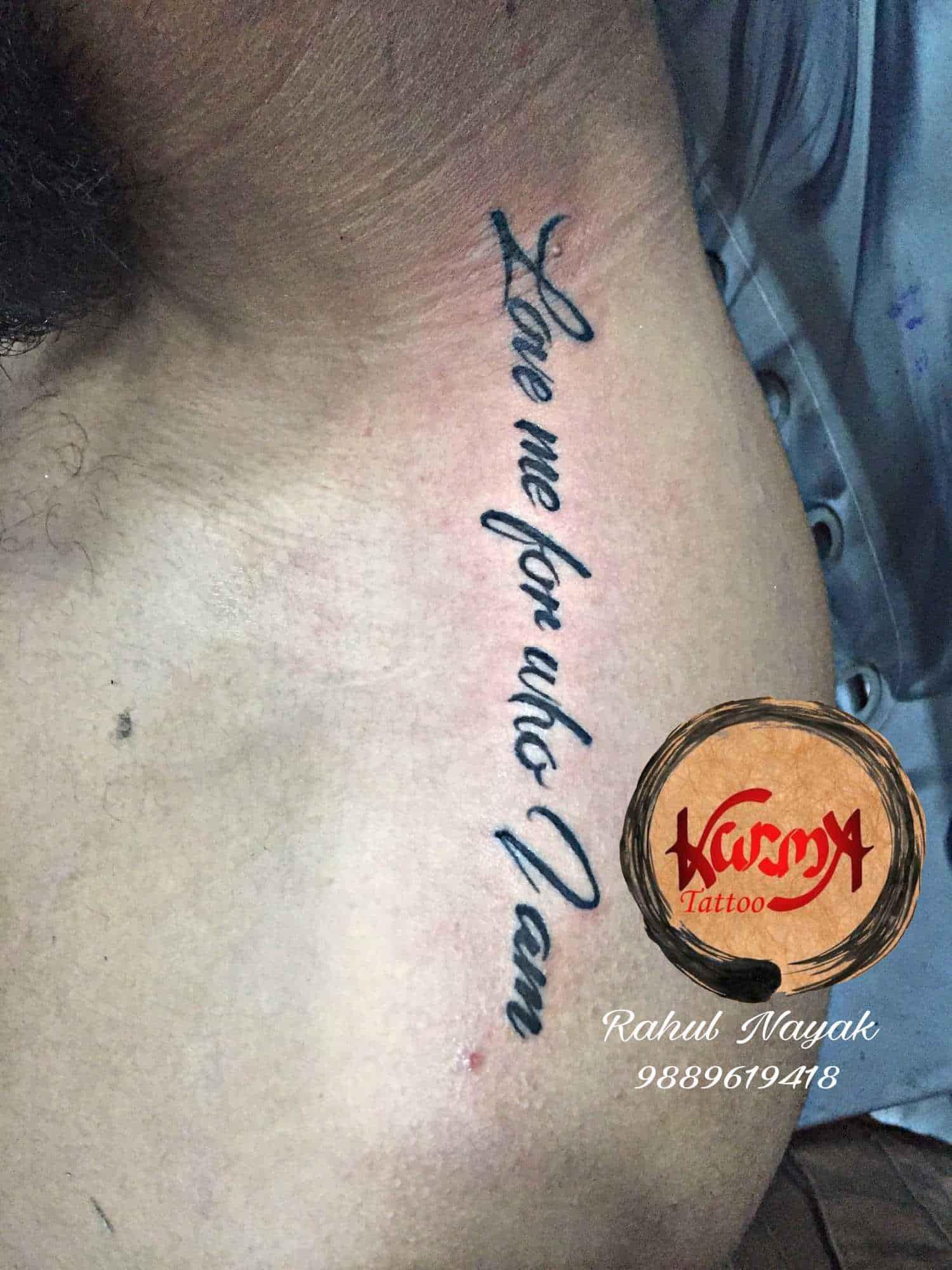 Karma Tattoo Studio Gomti Nagar Rahul Tattoo Mehndi Artist