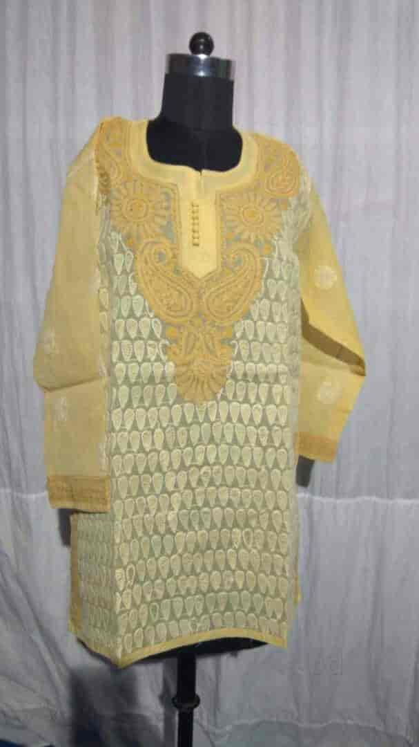 Chikan Product Photos La Touche Road Lucknow Chikan Dress Material Wholesalers