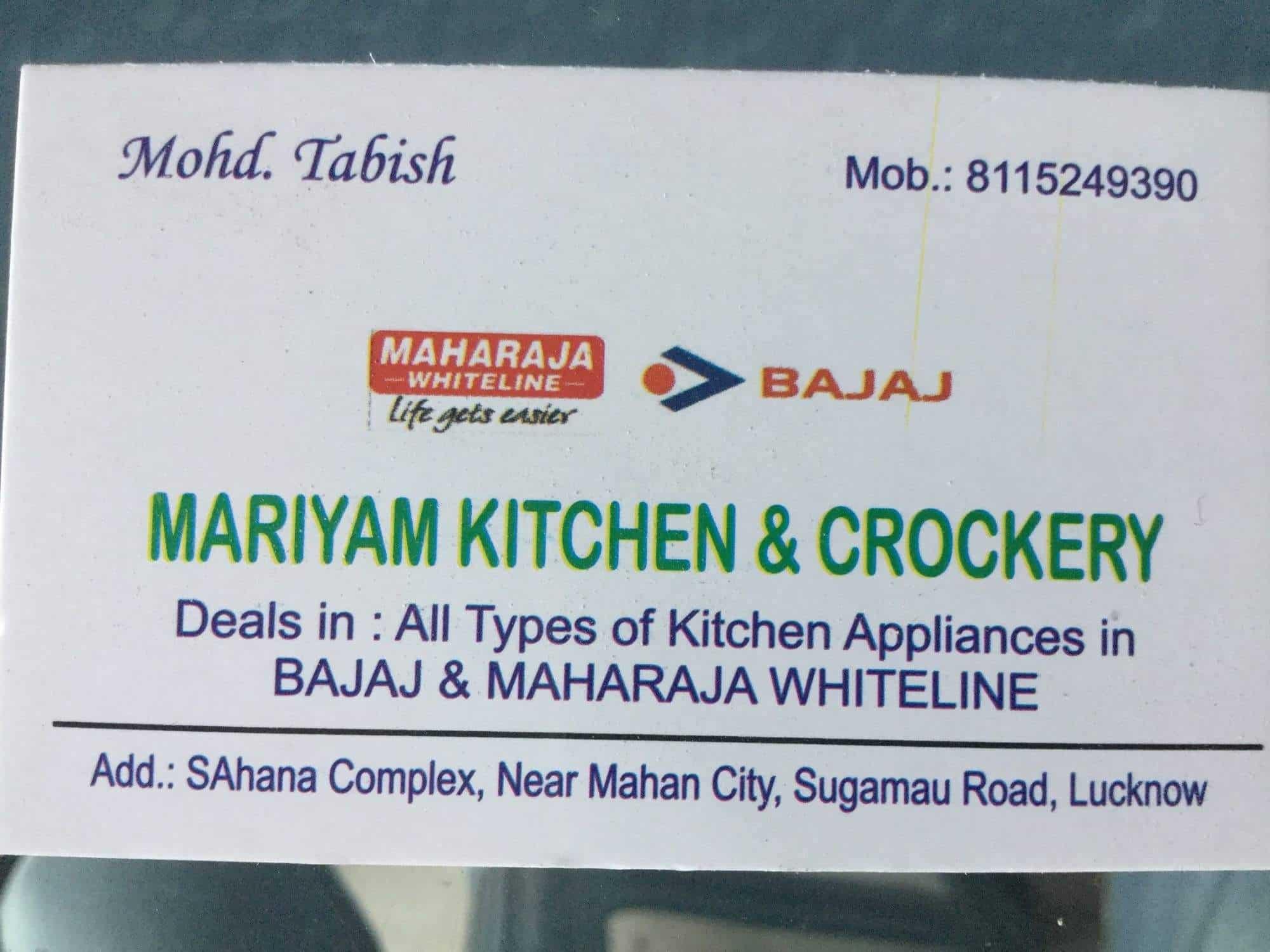 Mariyam Kitchen Crockery Photos, Indira Nagar, Lucknow- Pictures ...