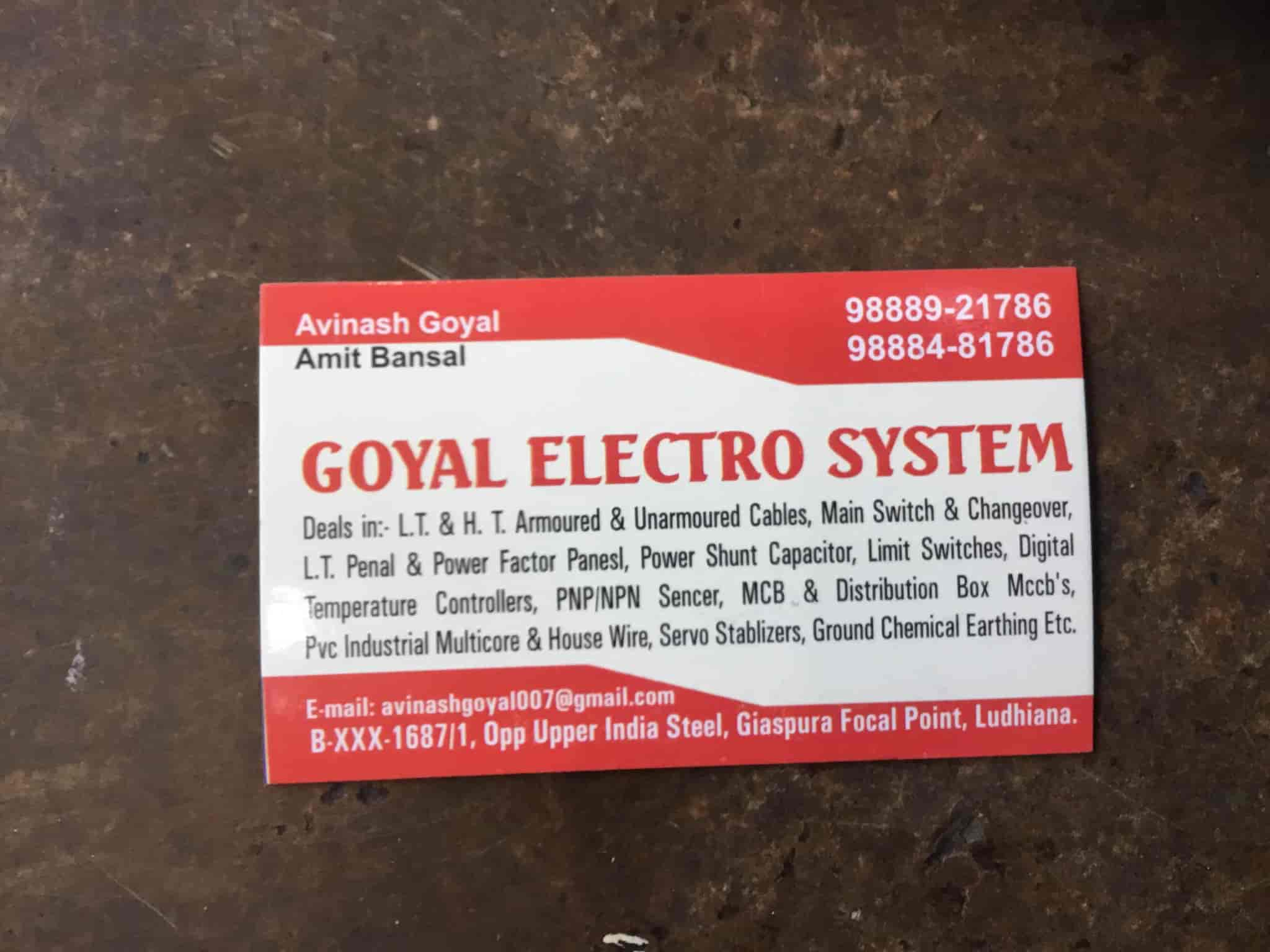 Goel Electro System Focal Point Goyal Pvc Household Wiring In India Dealers Ludhiana Justdial
