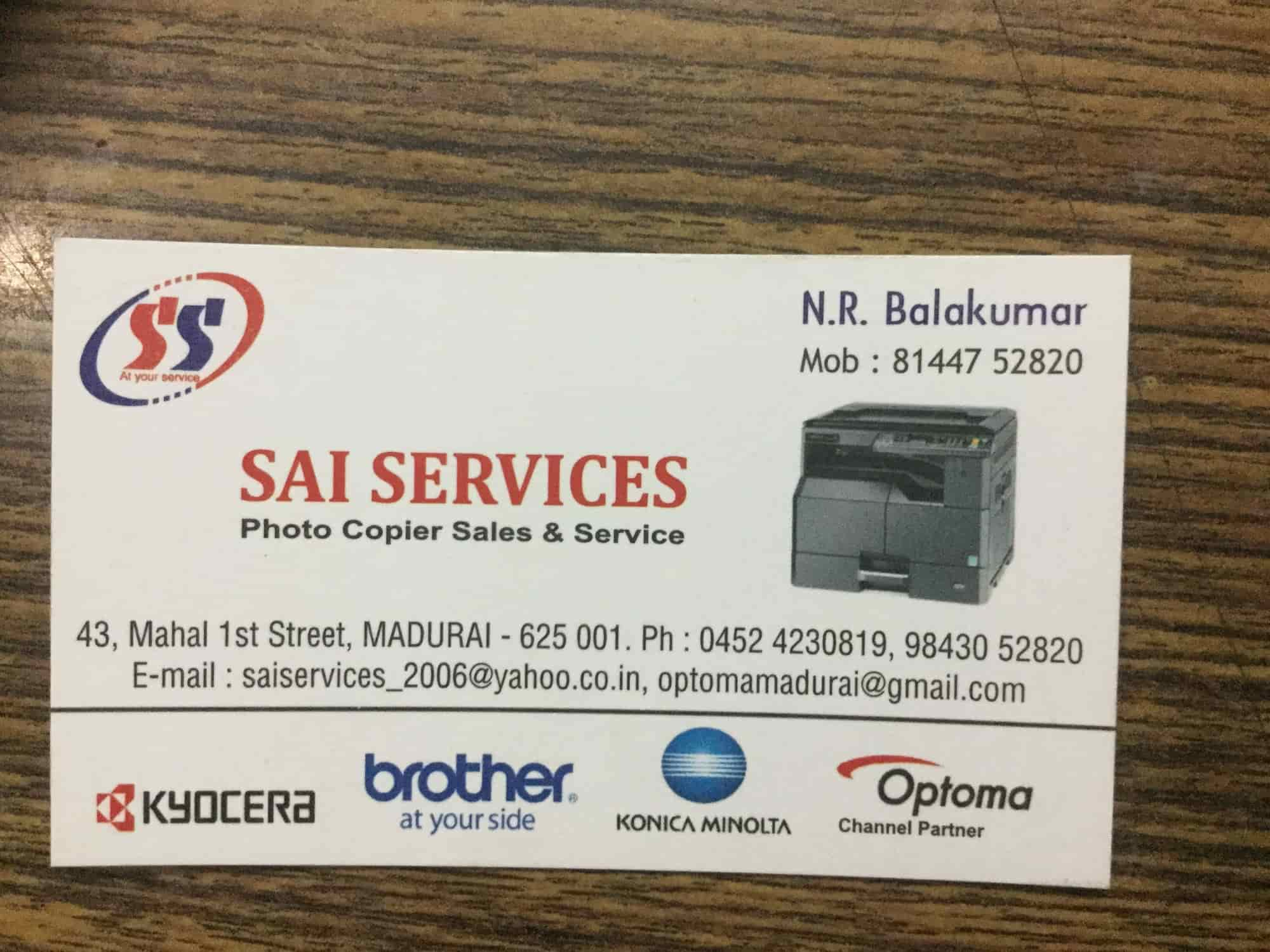 Sai Services, South Masi Street - Photocopier Dealers-Kyocera in