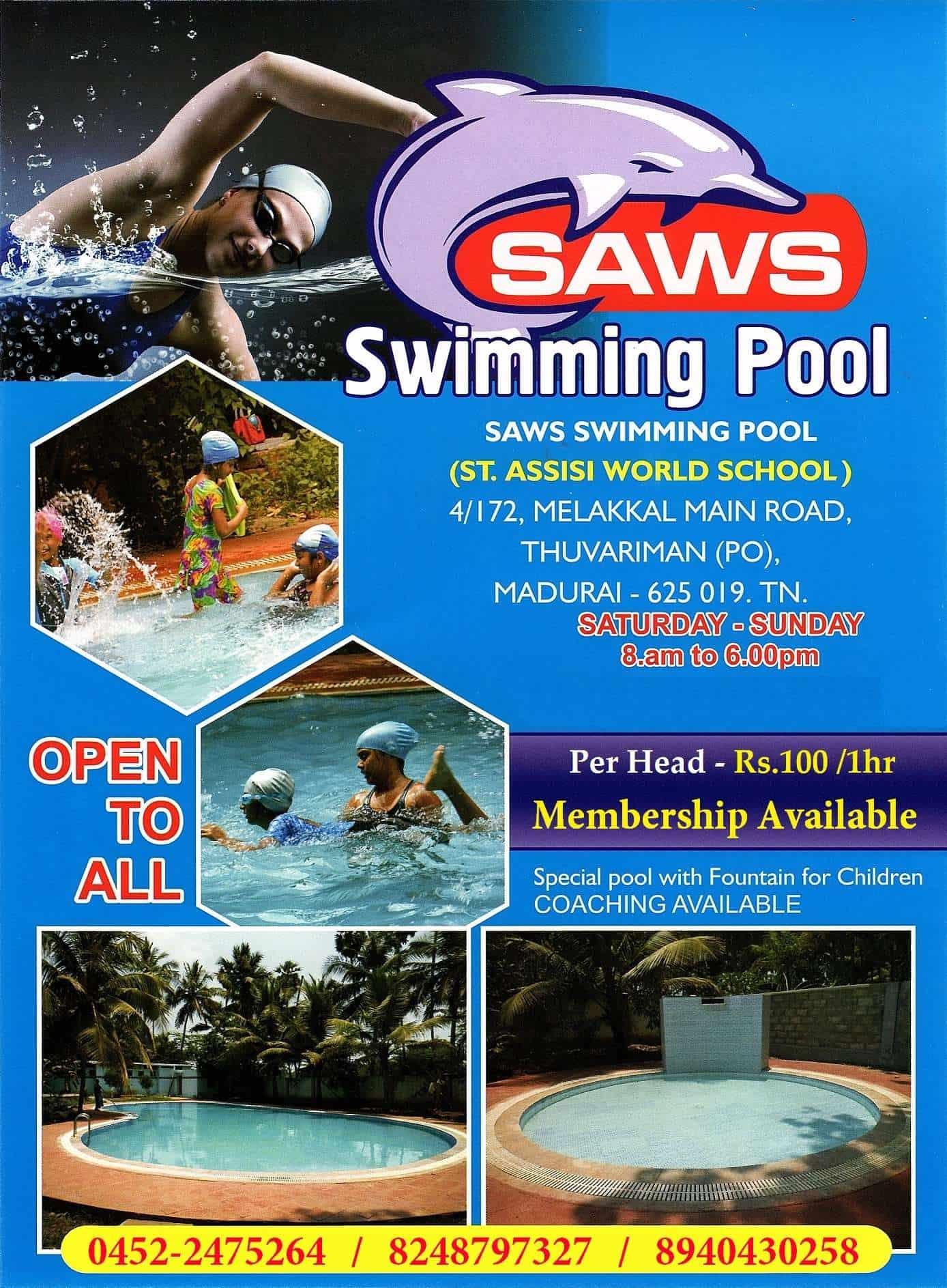 Saws Swimming Pool Thuvariman Swimming Pools In Madurai Justdial