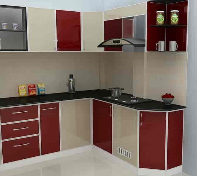 Aluminium Fabrication Kitchen Cabinets In Kerala Kitchen