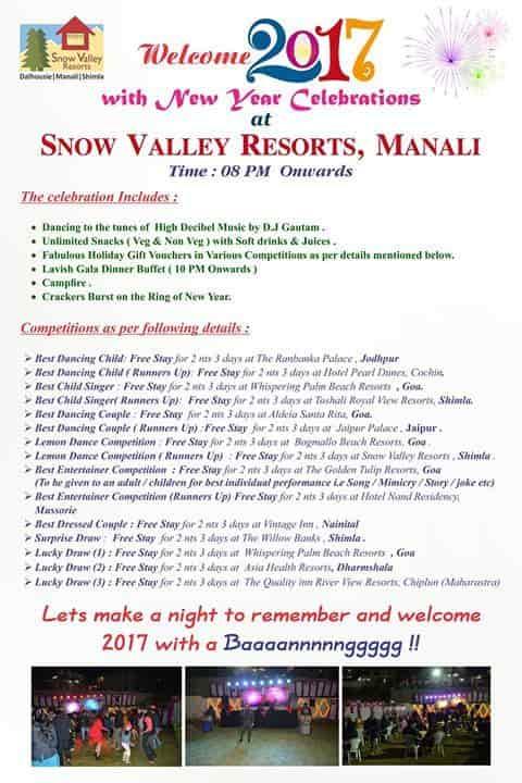 Snow Valley Resorts, Gompa Road-Manali HO - Resorts in Kullu