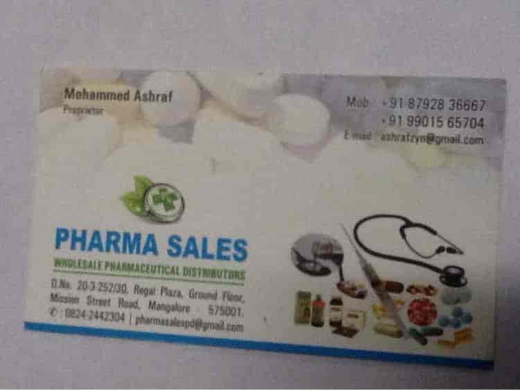 Pharma Sales, Mission Street - Pharmaceutical Distributors