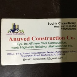 Anuvedh Construction Company, Mathura Bypass - Civil Contractors in