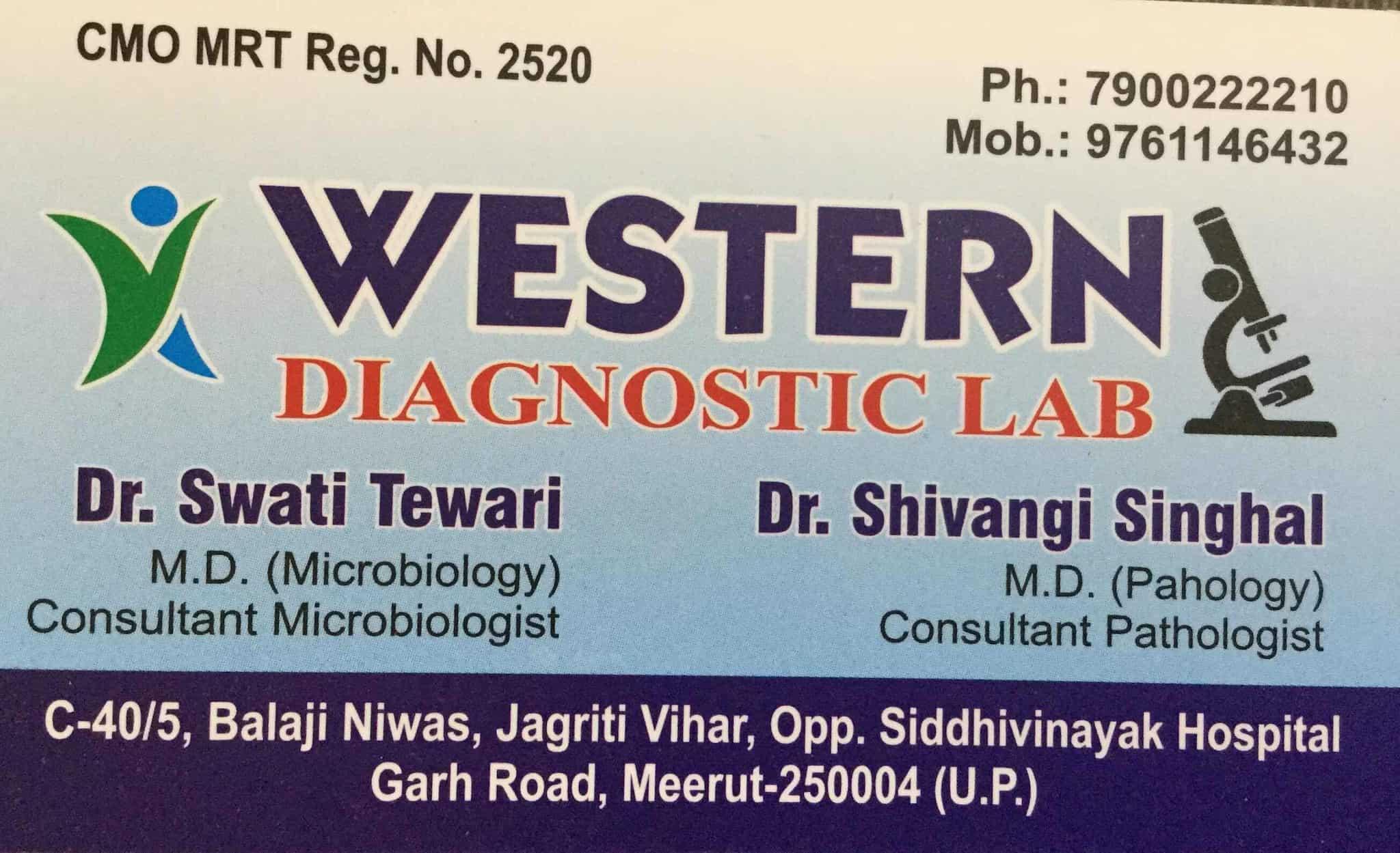 Western Diagnostic Lab, Jagriti Vihar - Diagnostic Centres